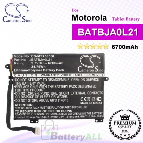 CS-MTX505SL For Motorola Tablet Battery Model BATBJA0L21
