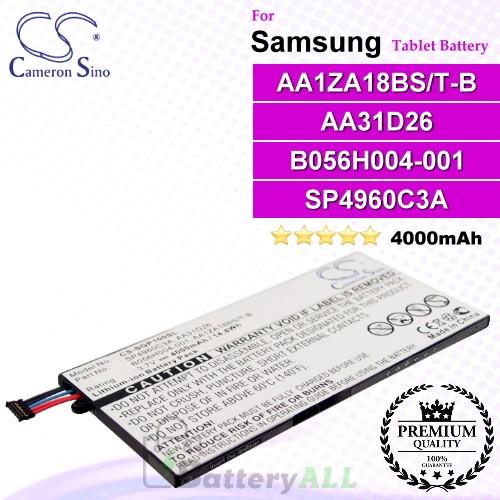 CS-SGP100SL For Samsung Tablet Battery Model AA1ZA18BS/T-B / AA31D26 / B056H004-001 / SP4960C3A