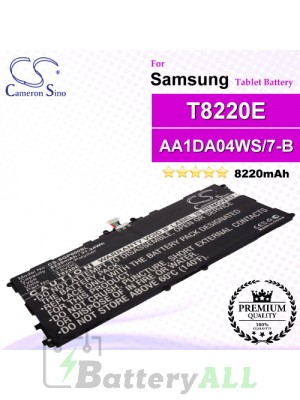 CS-SGP600SL For Samsung Tablet Battery Model AA1DA04WS/7-B / AA1DA2WS/7-B / AAaD828oS/T-B / GH43-03998A / P11G2J-01-S01 / T8220E / T8220K