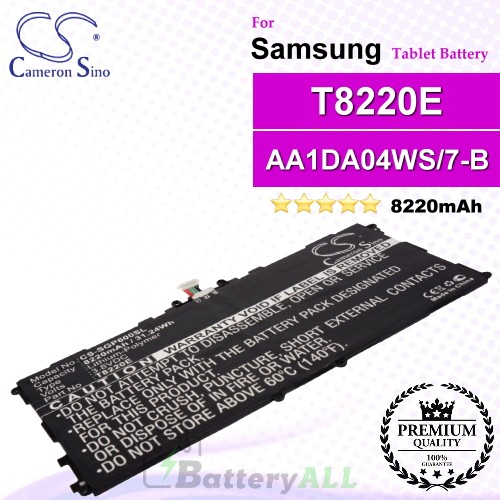 CS-SGP600SL For Samsung Tablet Battery Model AA1DA04WS/7-B / AA1DA2WS/7-B / AAaD828oS/T-B / GH43-03998A / P11G2J-01-S01 / T8220E / T8220K
