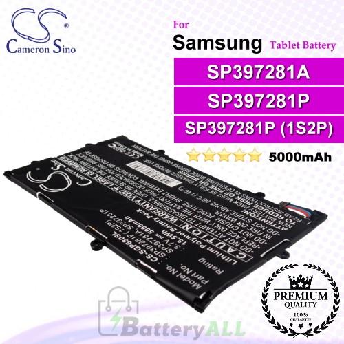 CS-SGP680SL For Samsung Tablet Battery Model SP397281A / SP397281P / SP397281P ( 1S2P)