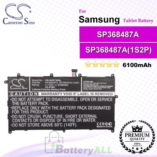 CS-SGP730SL For Samsung Tablet Battery Model SP368487A / SP368487A(1S2P)