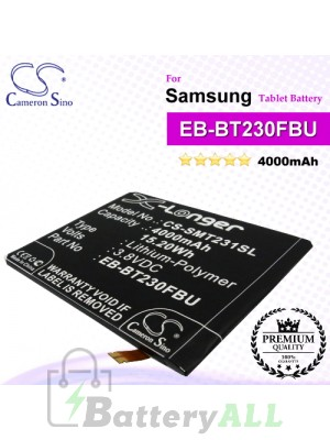 CS-SMT231SL For Samsung Tablet Battery Model EB-BT230FBE / EB-BT230FBU