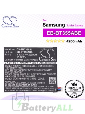 CS-SMT350SL For Samsung Tablet Battery Model EB-BT355ABA