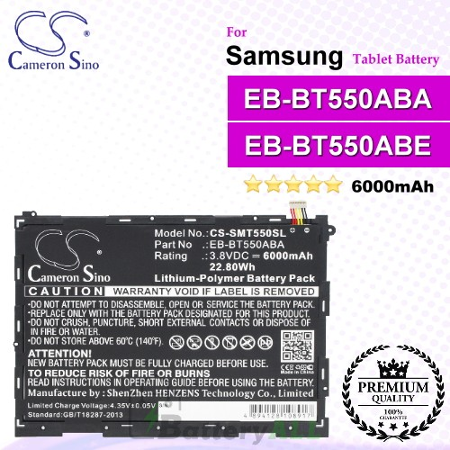 CS-SMT550SL For Samsung Tablet Battery Model EB-BT550ABA / EB-BT550ABE