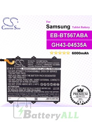 CS-SMT567SL For Samsung Tablet Battery Model EB-BT567ABA / GH43-04535A