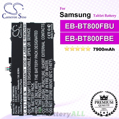 CS-SMT805SL For Samsung Tablet Battery Model EB-BT800FBC / EB-BT800FBE / EB-BT800FBU