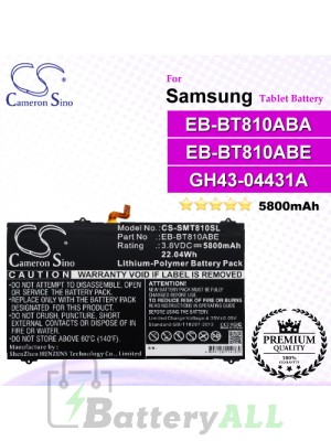 CS-SMT810SL For Samsung Tablet Battery Model EB-BT810ABA / EB-BT810ABE / GH43-04431A
