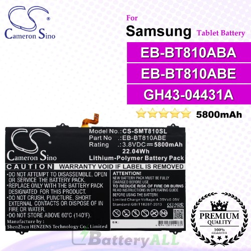 CS-SMT810SL For Samsung Tablet Battery Model EB-BT810ABA / EB-BT810ABE / GH43-04431A