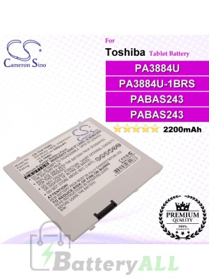 CS-TOF100SL For Toshiba Tablet Battery Model PA3884U / PA3884U-1BRS / PABA243 / PABAS243
