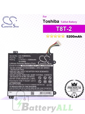 CS-TOM900SL For Toshiba Tablet Battery Model T8T-2