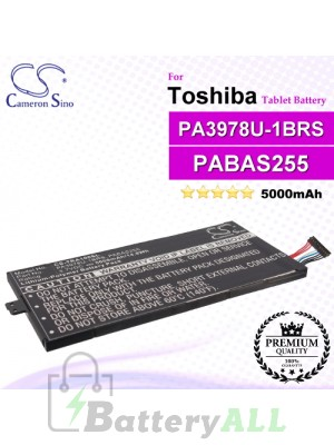 CS-TRA100SL For Toshiba Tablet Battery Model PA3978U-1BRS / PABAS255