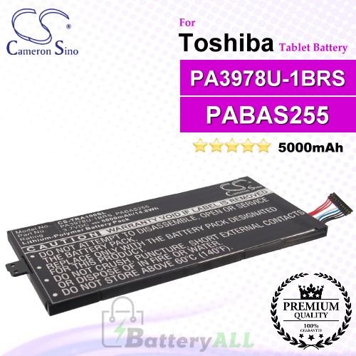 CS-TRA100SL For Toshiba Tablet Battery Model PA3978U-1BRS / PABAS255