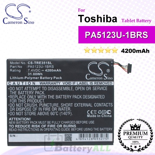 CS-TRE351SL For Toshiba Tablet Battery Model PA5123U-1BRS