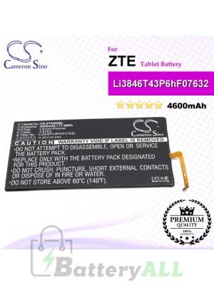 CS-ZTK880SL For ZTE Tablet Battery Model Li3846T43P6hF07632