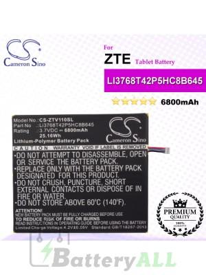 CS-ZTV110SL For ZTE Tablet Battery Model LI3768T42P5HC8B645