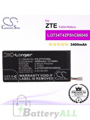 CS-ZTV720SL For ZTE Tablet Battery Model Li3734T42P5hC66045