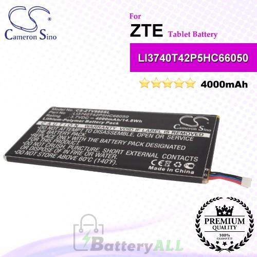 CS-ZTV980SL For ZTE Tablet Battery Model LI3740T42P5HC66050