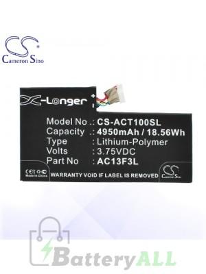 CS Battery for Acer AC13F3L / Iconia Tab A1 A1-810 / W4-820P Battery TA-ACT100SL